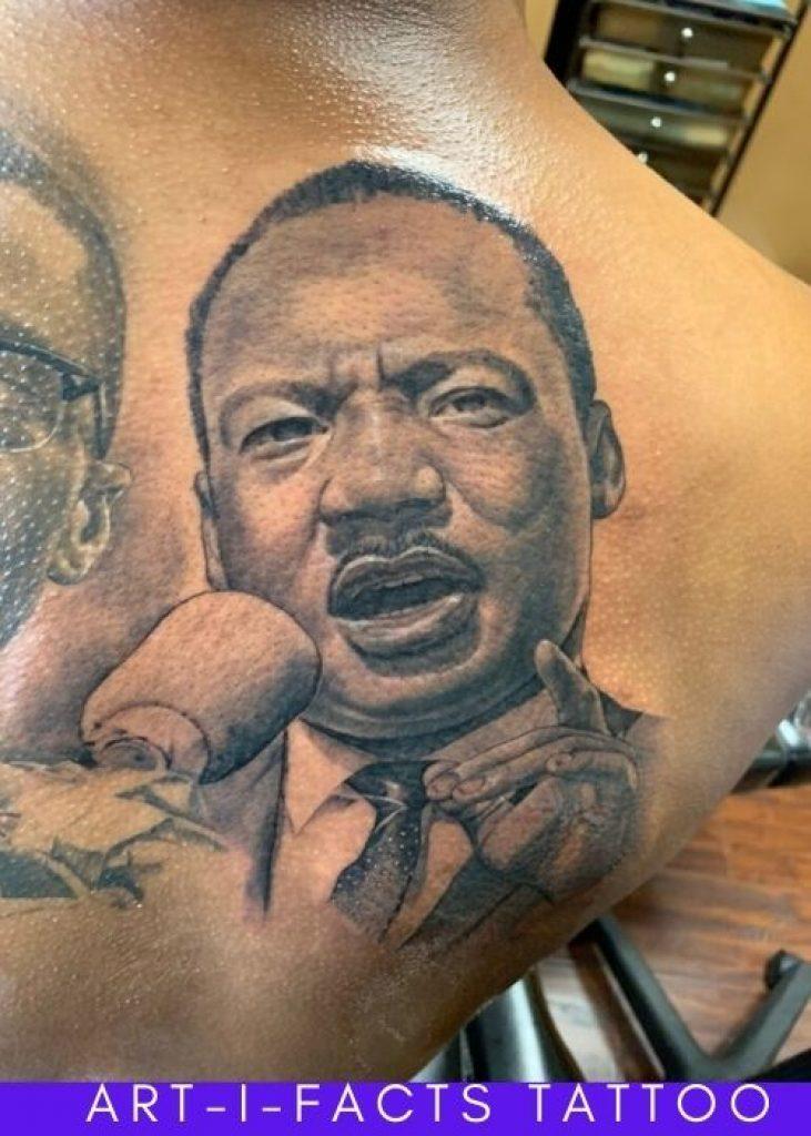 martin luther king jr portrait tattoo